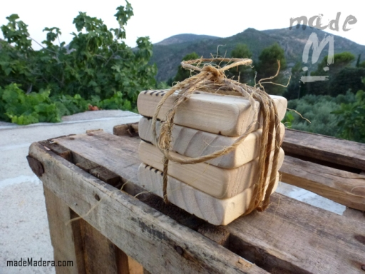 Drifwood, recycled wood, bois recyclé, madera vieja, madera flotante, madeMadera, Reciclaje, Wood Art, posavasos, cocina, kitchen, coasters,