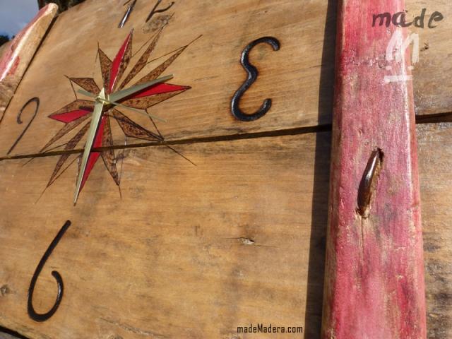 Reloj, rústico, rustic, clock, madera, diseño, decoración, hogar