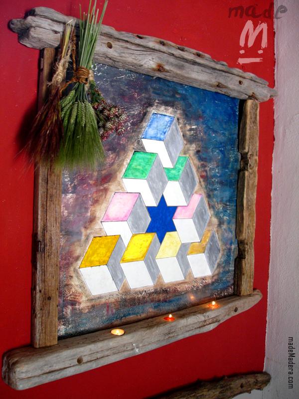 marco madera reciclada