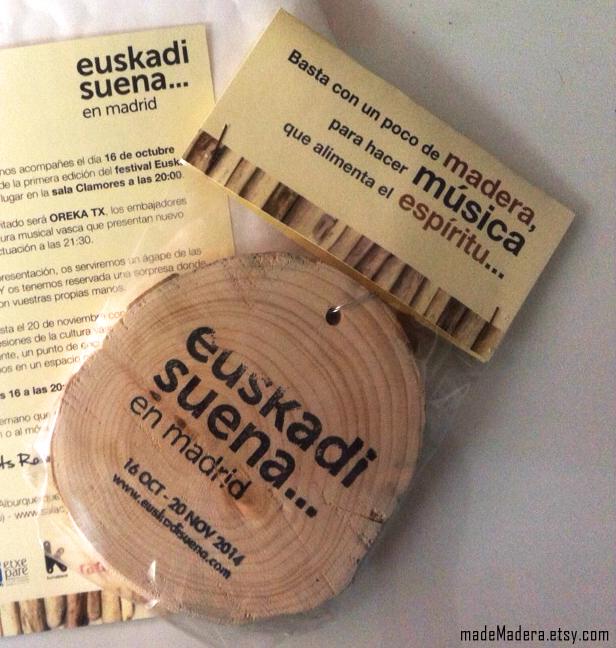 Rodajas Madera Wood Slices Euskadi Madrid Festival Oreka TK