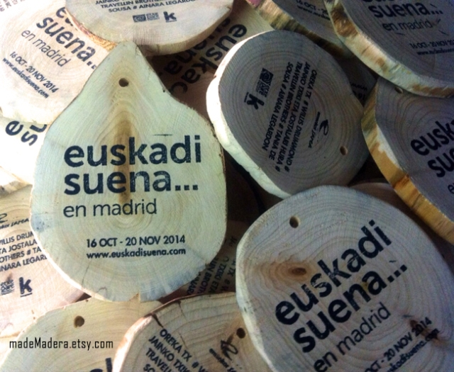 Rodajas Madera Wood Slices Euskadi Madrid Festival Oreka TK1