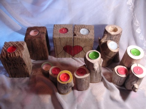 porta velas / candle holders